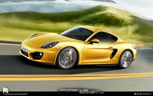 Rendering 2013 Porsche Cayman