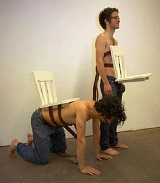 the human chairs