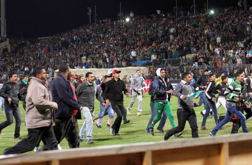 Egyptian Soccer Pitch Invasion
