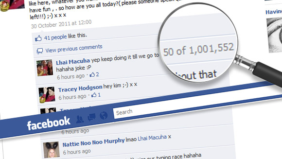 Facebook record for most comments