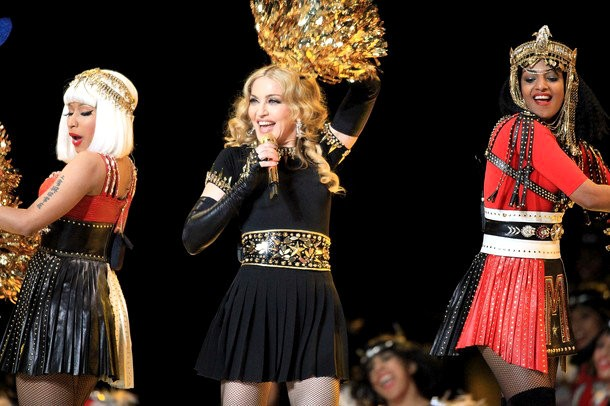 During Madonna Performance