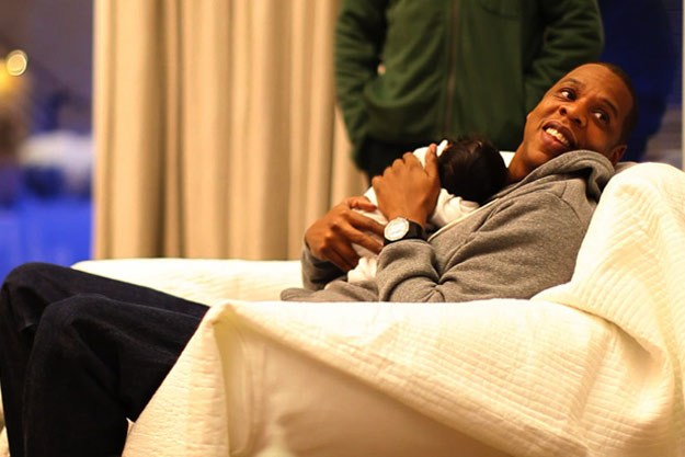 Jay-Z and baby Blue Ivy