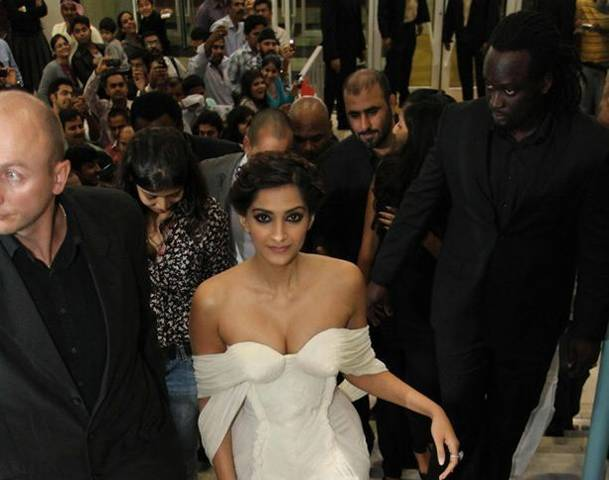 Sonam Kapoor Huge Cleavage Show at 'Players' Dubai Premier