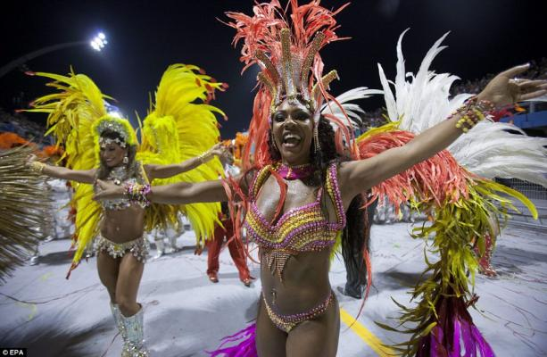 The world famous Carnival has kicked off in Brazil with an explosion of colour and music -EPA