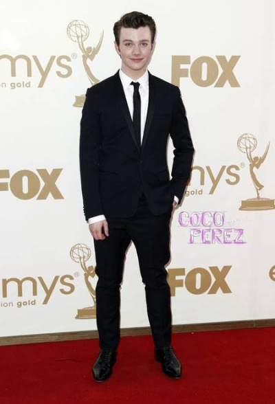 chris colfer glee star struck by lightning