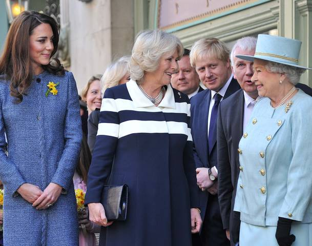 Queen Elizabeth II, Camilla Parker Bowles and Kate Middleton were together on an official visit to a luxury department store in London. The royal guests attended a tea party and greet UK military members serving in Afghanistan at Fortnum and Mason store, the iconic and luxury department store in London founded in 1707 by William Fortnum and Hugh Mason, which is known for its reputation for high quality products, especially for its tea, according to Daily Mail.