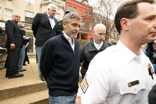 George Clooney was arrested during his protest in Washington DC