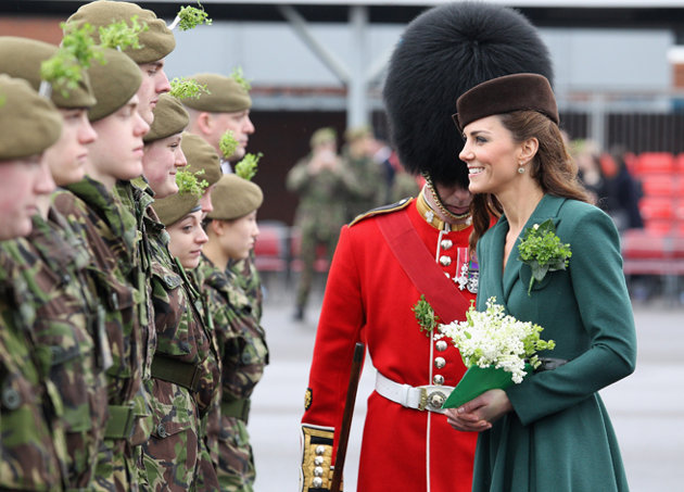Kate Middleton on St Patricks Day