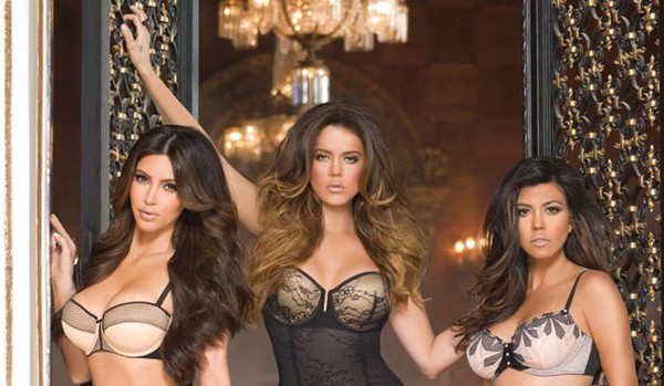Kim, Khloe and Kourtney Kardashian lingerie
