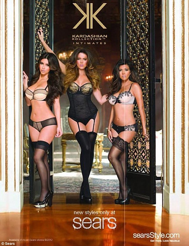 Kim, Khloe and Kourtney Kardashian new lingerie campaign