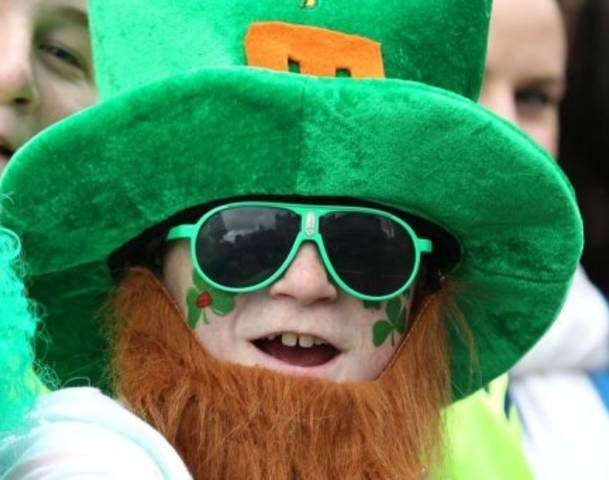 500,000 people gathered near central Dublin for the St. Patrick's Day parade