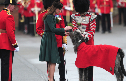 The Duchess of Cambridge on st patricks day