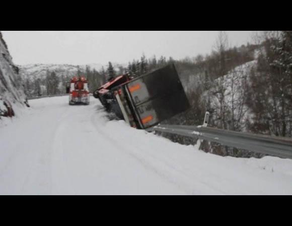 Driver Escapes Plunge Down Mountain