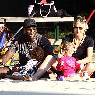 Heidi Klum & Seal with Kids
