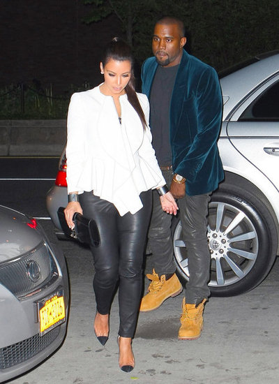 Kanye West Loses Pants During Date with Kim Kardashian