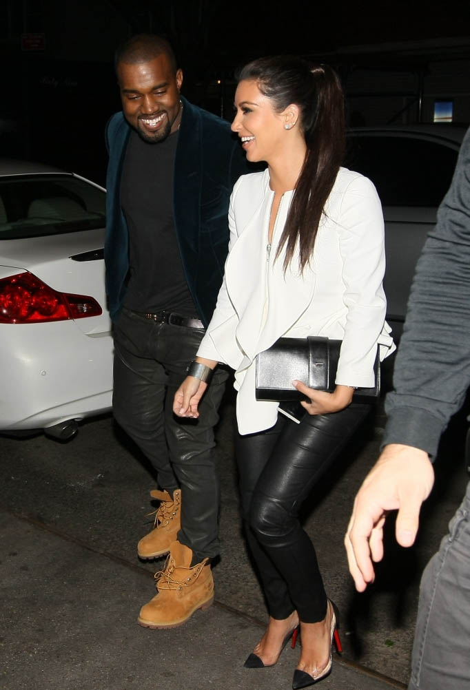 Kanye West and Kim Kardashian Step Out for Dinner Date in NYC
