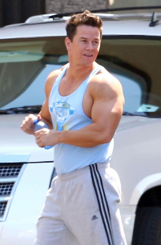 Mark Wahlberg Massive Biceps