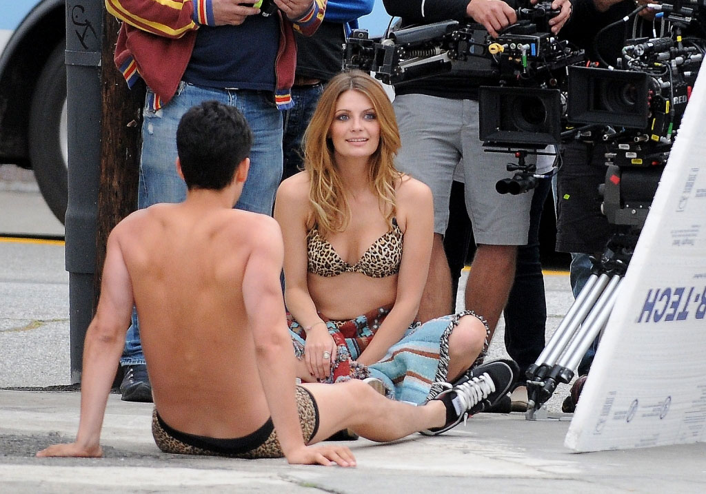 Mischa Barton video shoot in Los Angeles