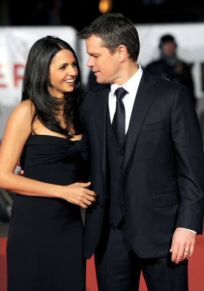 Matt Damon with his wife Luciana Bozan Barroso