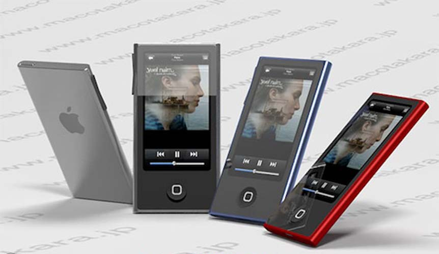 apple ipod nano new design