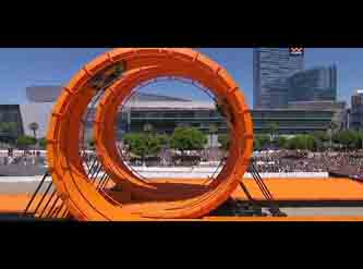Exclusive Video - Hot Wheels Pulls off Double Loop Dare 2012