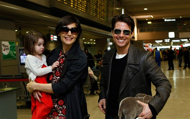 Tom with Katie holmes and Suri