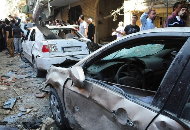 Syrian Regime Airstrike 10 killed in Damascus