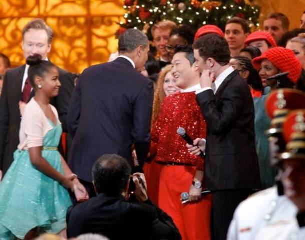 Obama and PSY Together for Christmas in Washington Concert