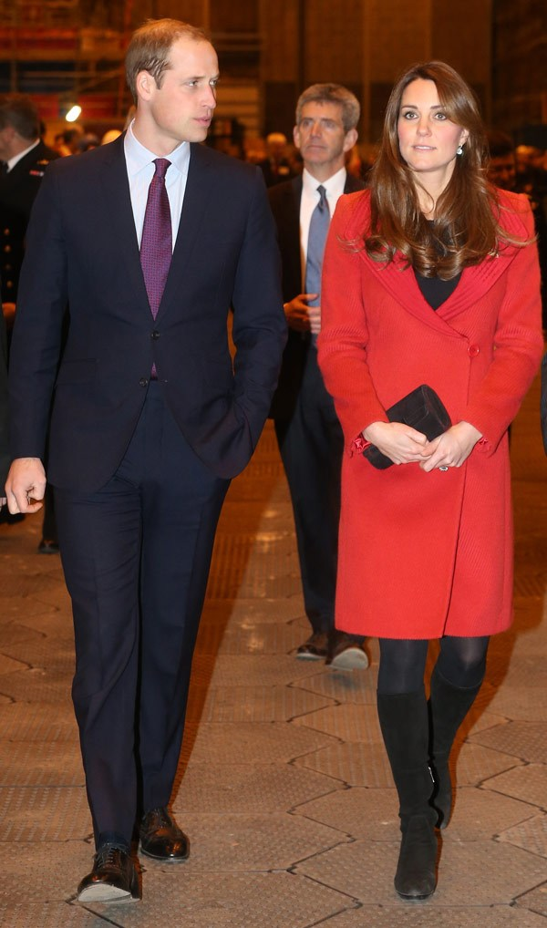 Kate Middleton Covers Baby Bump In a Chic Coat