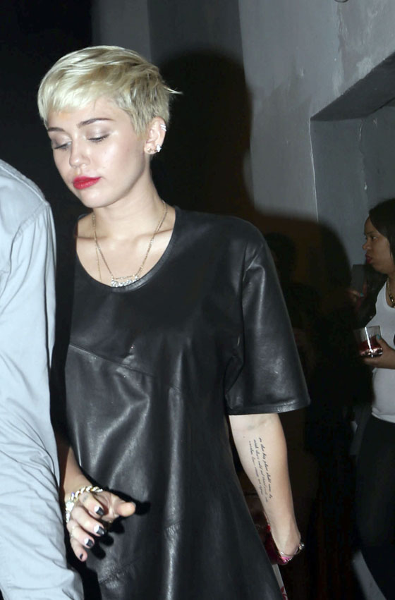 Exclusive... Underage Miley Cyrus Sneaks Out of the Club in Miami