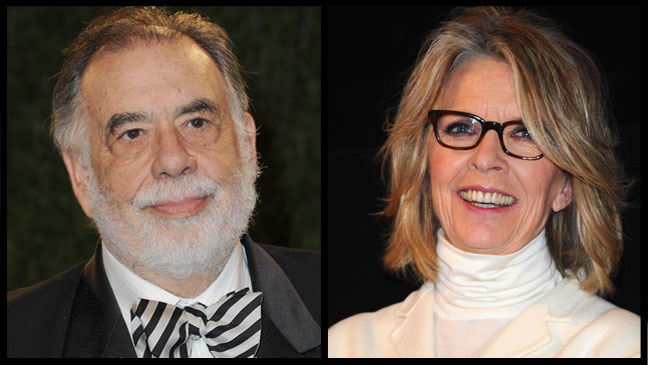 Francis Ford Coppola and Diane Keaton