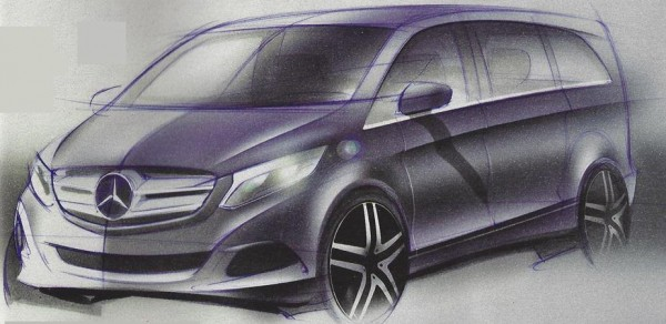 Official Sketches of 2014 Mercedes Viano Revealed