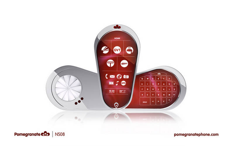 Pomegranate - A Phone With Shaver, Coffee Brewer Harmonica